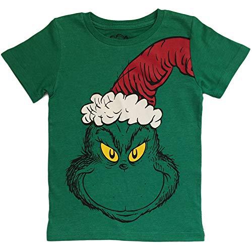 Dr Seuss Grinch Little Boys Toddler T Shirt (4T, Short Sleeve)