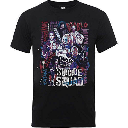 Dc Comics Men's T-shirt: Suicide Squad Harley Quinn L