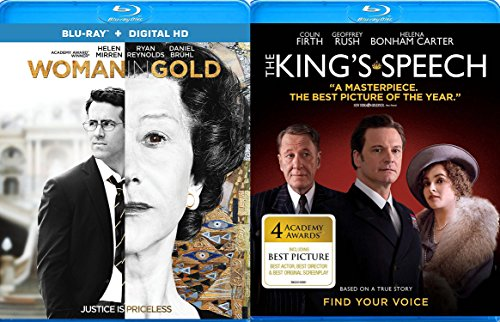 The King's Speech & The Woman in Gold true Story Blu Ray Drama Movie Set