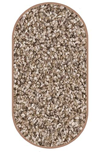Dream Weaver Oval 5 x8 Indoor Area Rug – Briarwood 40 oz – plush textured carpet for residential or commercial use with Premium BOUND Polyester Edges.
