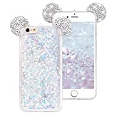 NAMA for iPhone 6 Plus 5.5' for iPhone 6s Plus 5.5' Floating Holographic Hearts Minnie Mickey Ears Liquid Waterfall Glitter Quicksand Disney Back Cover Case
