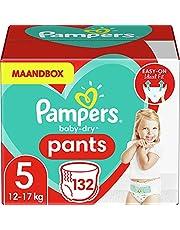 Pampers Maat 5 Luierbroekjes (6-10 kg), Baby-Dry, 132 Stuks, Tot 12 uur Bescherming rondom tegen Lekken