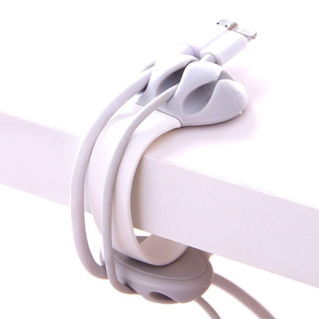 Jeerui Avvolgicavo per Cavi USB, organizzatore di Cavi, Clip per Cavi Supporto per Cavi Morsetto per Cavo Elettrico Solido