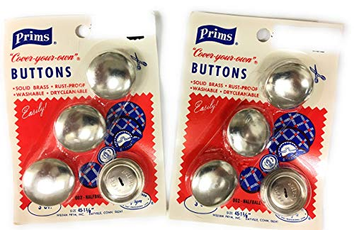 Prims Half Ball Cover Buttons Size 45-1 1/8