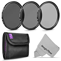 52MM Altura Photo Neutral Density Professional Photography Filter Set (ND2 ND4 ND8) + Premium MagicFiber Microfiber Cleaning Cloth