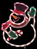 NorthLight 17 in. Lighted Waving Snowman Christmas Window Silhouette Decoration
