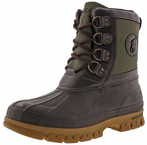 Polo Ralph Lauren Lowen Men's Duck Boots Waterproof Brown Size - Lauren Boots Ralph Men Polo