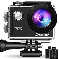 Crosstour アクションカメラ WiFi搭載 1080PフルHD高画質 1200万画...