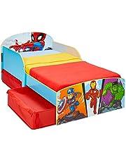 Worlds Apart Marvel Superheld – liten sängbädd med förvaringsutrymme, 142 x 77 x 59 cm