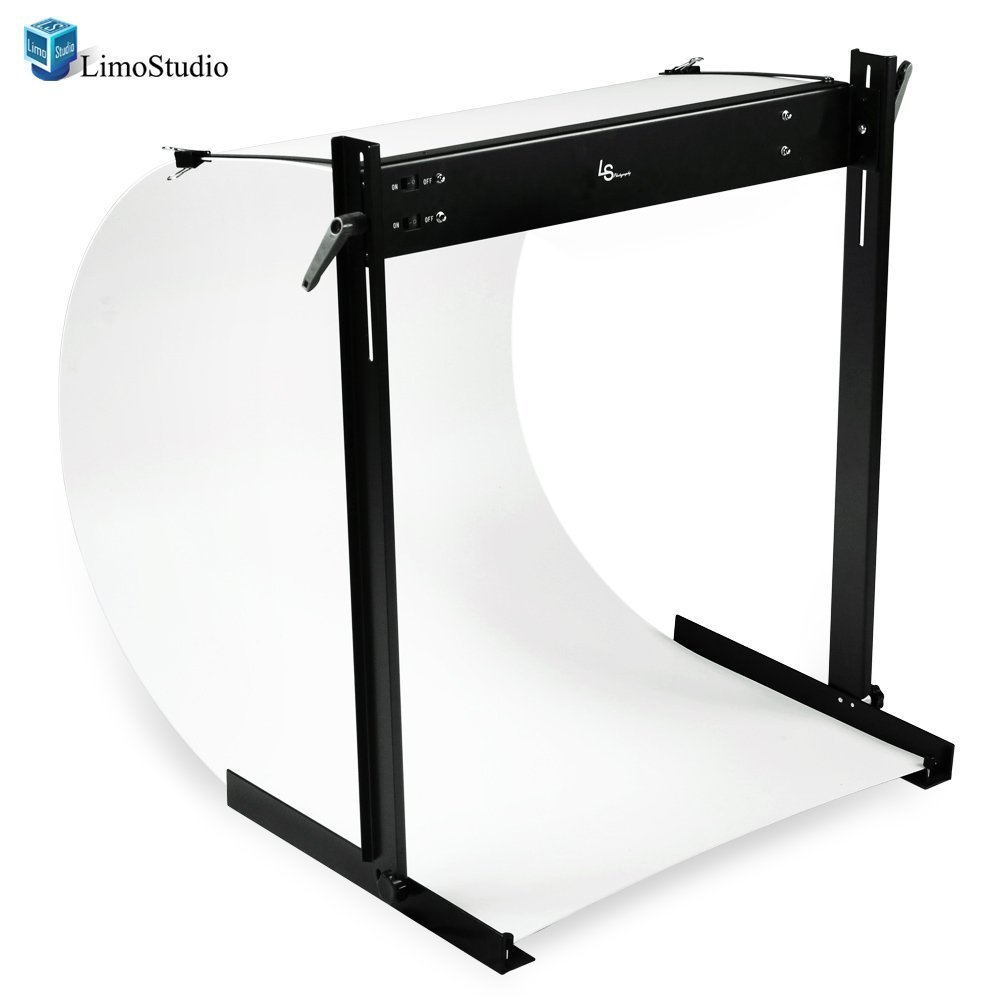 LimoStudio LED E-commerce Business Product Photo Shooting Table Stand Kit with Double LED Light Tube 6500K, Photo Studio, AGG1571 by LimoStudio (Image #1)