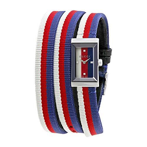 Gucci G-Frame Multicolored Dial Nylon Strap Ladies Watch YA147502