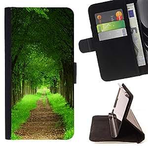 Dragon Case- Mappen-Kasten-Prima caja de la PU billetera de cuero con ranuras para tarjetas, efectivo Compartimiento desmontable y correa para la mu?eca FOR Samsung Galaxy S5 V SM-G900 G9009 G9008V- Tree Wood