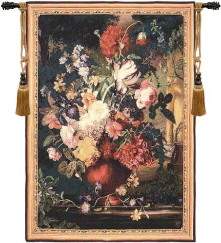 Bouquet Flamand French Wall Art Tapestry by Charlotte Home Furnishings Inc.