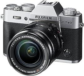 Fujifilm X-T20 Mirrorless Digital Camera w/XF18-55mmF2.8-4.0 R LM OIS Lens-Silver