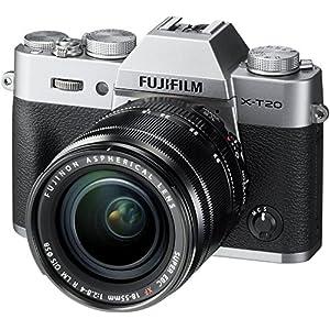 51RiEj3qGkL. SS300  - Fujifilm X-T20 Mirrorless Digital Camera w/XF18-55mmF2.8-4.0 R LM OIS Lens-Silver