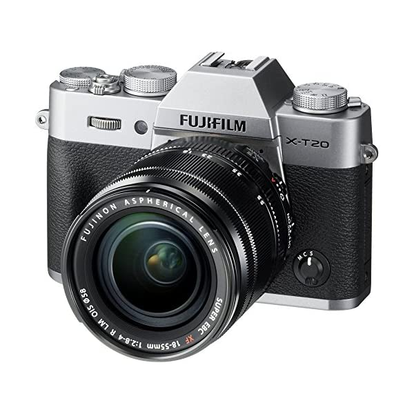 51RiEj3qGkL. SS600  - Fujifilm X-T20 Mirrorless Digital Camera w/XF18-55mmF2.8-4.0 R LM OIS Lens-Silver