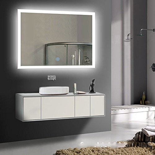 Siminda LED Bathroom Mirror Lighted Vanity Mirror Includes Defogger Wall Mount Backlit Lighted by Siminda
