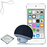 Apple iPod touch Silver 32GB (6th Generation) - Mushroom Bluetooth Wireless Speaker/Ipod Stand - Quality Photo cloth (2015 itouch)