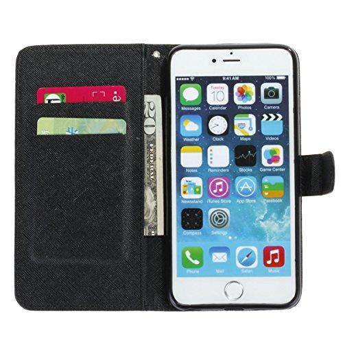 iPhone 6 Plus / 6S Plus 5.5 inch Coque , Apple iPhone 6 Plus / 6S Plus 5.5 inch Coque Lifetrut® [ pissenlit ] [Porte] [Card Slot] Prime PU cuir flip stand Wallet Case Cover Avec lanière Coque Etui pou