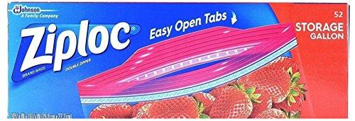 Ziploc Ziploc Double Zipper Storage Bags - Gallon, 52 Count price tips cheap