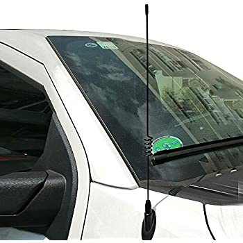 BASIKER 13.8 Spring Steel Antenna for Ford F150 2009-2019 Trucks AM//FM Radio Receiver Direct Replace Metal Antenna Accessories