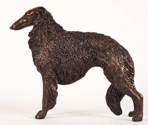 Borzoi Figurine (Borzoi: Cold-cast Bronze Figurine 4.3 Inches Long)