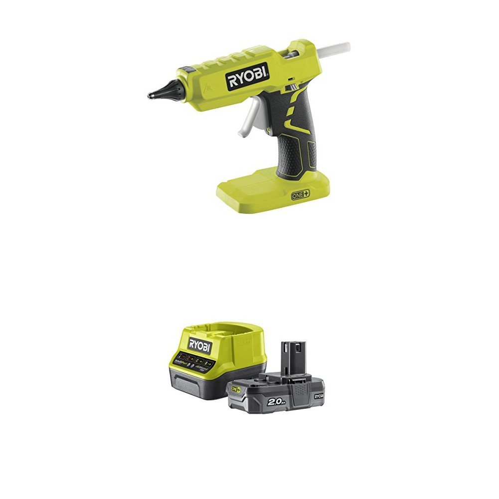 Ryobi R18GLU-0 18 V ONE+ Cordless Glue Gun with Lithium+ 2.0Ah Battery and Charger