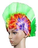 Da.Wa Colorful Cockscomb School and Team Spirit Punk Mohawk Hair Rainbow Wig Mohican Dress Cosplay