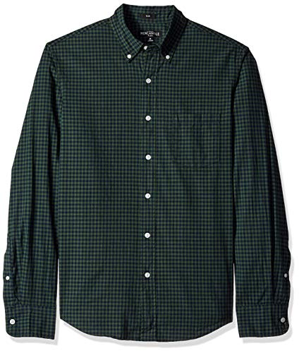 Forest Heather - J.Crew Mercantile Men's Slim-Fit Long-Sleeve Gingham Shirt, Heather Forest, L