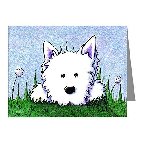 (CafePress Springtime Westie Blank Note Cards (Pack of 20) Matte)