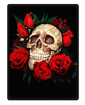 (skull Flower Bones Blanket 58