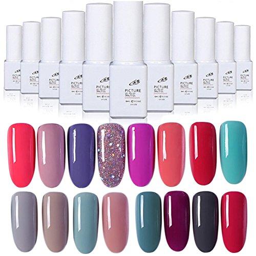 (Gel Nail Polish Kekailu, 6ML Women Fashion UV Gel Nail Art Long Lasting Soak Off Polish Manicure 40 Color - 131)