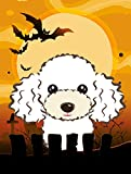 Caroline's Treasures BB1815GF Halloween White Poodle Garden Size Flag, Small, Multicolor