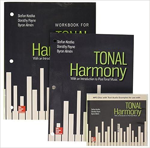 Gen Combo Looseleaf Tonal Harmony Mp3 Disc Workbook Stefan Kostka