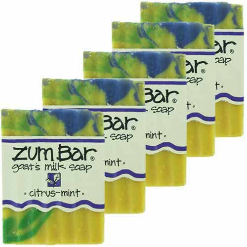 Indigo Wild Zum Bars Goat's Milk Soap Citrus Mint 3oz (5 Pack) ()