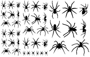 Halloween Spiders set of 40 vinyl lettering decal home decor wall art sticker