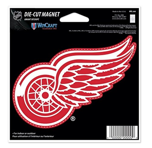 NHL Detroit Red Wings Color 4.5 x 6 Die Cut - Magnets Nhl