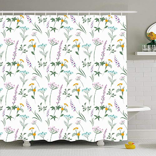 Ahawoso Shower Curtain for Bathroom 60x72 Colorful Anniversary Birthday Food Pattern Flower Hat Miscellaneous Baby Kid Cupcake Balloon Bow Cake Waterproof Polyester Fabric Bath Decor Set with Hooks