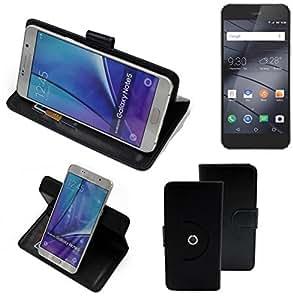 360° Funda Smartphone para Gigaset ME I Pure, negro | Función de stand Caso Monedero BookStyle mejor precio, mejor funcionamiento - K-S-Trade