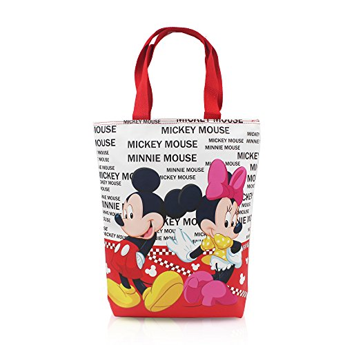 Finex Mickey Mouse and Minnie Mouse Reusable Tote bag large handbag with zipper for women girls kids]()