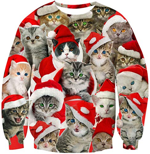 Nothing Ugly About It.   Super Cute Christmas Cats Sweat Shirt.