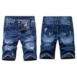 Heart Yuxuan Men's Fashion Casual Denim Short