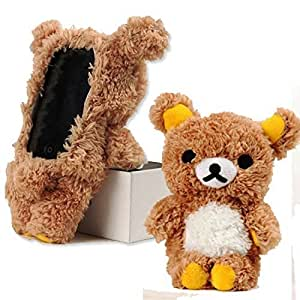 Dragonlong iPhone 5 Case iPhone 5c Cover iPhone 5s Stylish Cute 3D Teddy Bear Doll Toy Plush Case Cover For Apple iphone 5/5c/5s