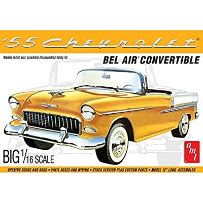 AMT 1134 1/16 1955 Chevy Bel Air Convertible Model Kit: Toys & Games