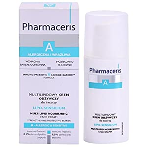 PHARMACERIS Moisturizing & Nourishing Face Neck Cream for Dry Sensitive Skin, Peptides & Hyaluronic Acid, Paraben-Allergen-Fragrance Free, Hypo-Allergenic, Non-comedogenic, For Women & Men, 50ml