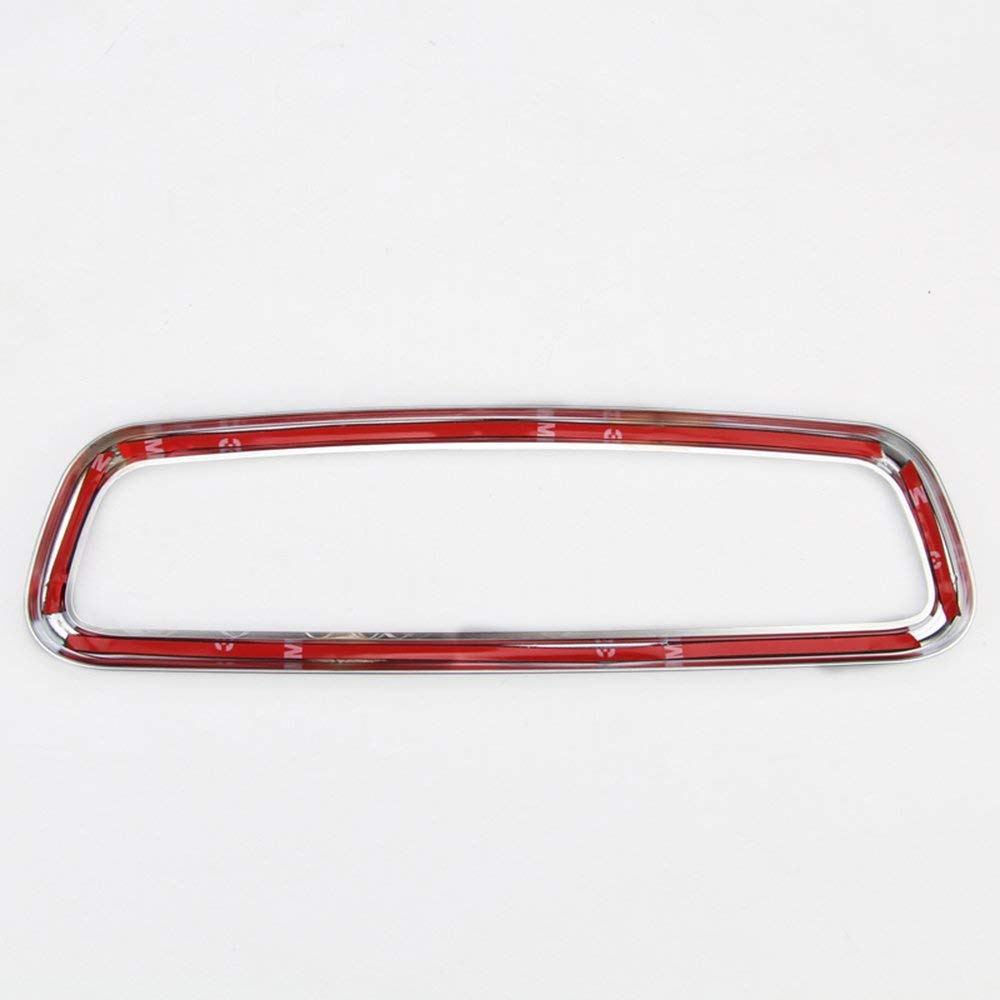 TOP-AUTO ABS Matte Chrome Interior Rearview Mirror Frame Cover Trim For Jaguar XE XF XJL F-Pace F pace X761