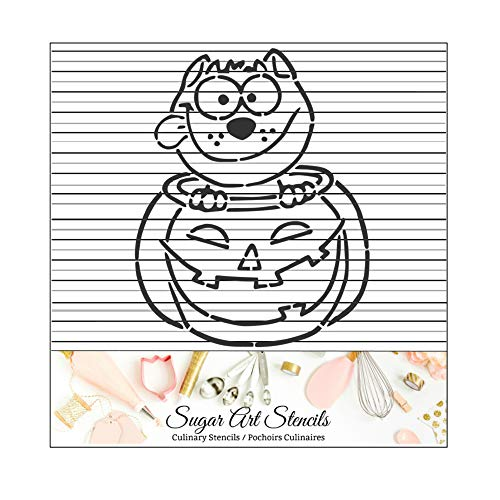 Halloween PYO cookie stencil pumpkin cat fall paint your own outline -