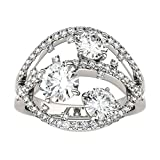 Forever Brilliant Round 6.0mm Moissanite Ring, 2.56cttw DEW by Charles & Colvard