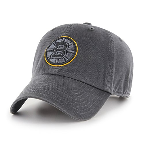 - NHL Boston Bruins Male OTS Challenger Adjustable Hat, Dark Charcoal, One Size
