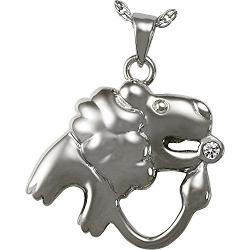 Memorial Gallery 3085SS Zodiac Leo Pendant Sterling Silver Cremation Pet Jewelry by Memorial Gallery